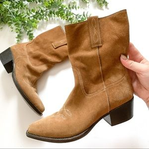 COLE HAAN COUNTRY Suede Ankle Pointed Boots